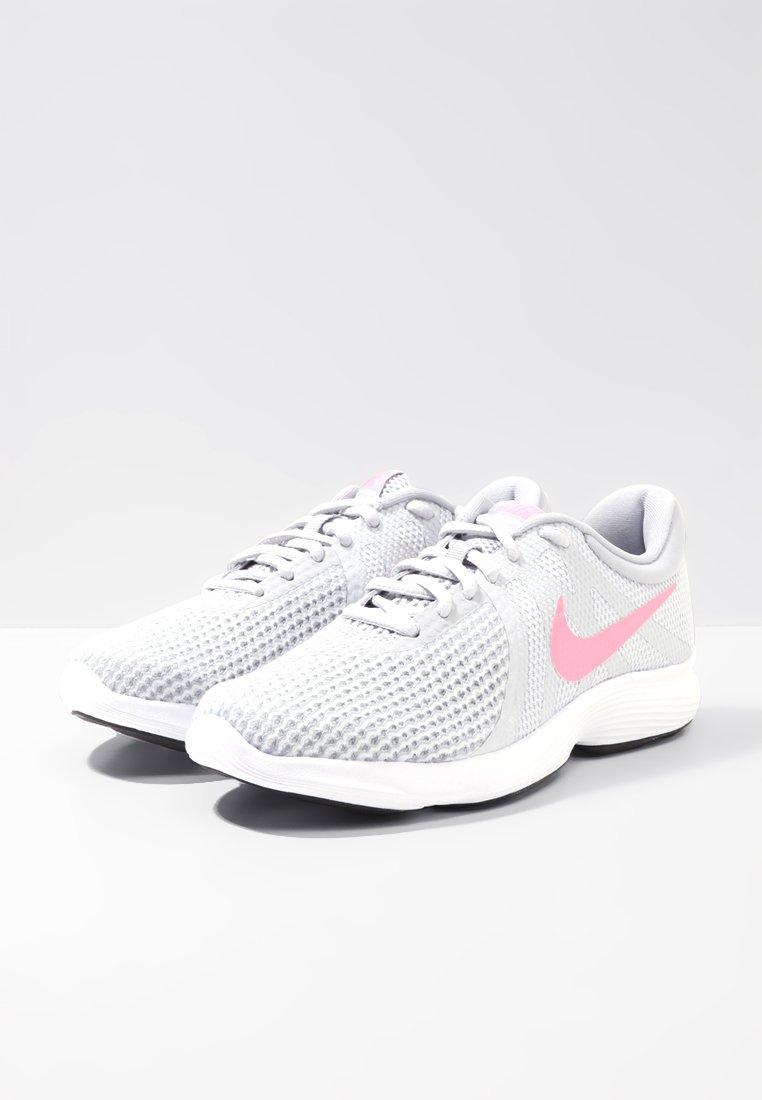 Nike Performance WMNS REVOLUTION 4 EU - Obuwie do biegania treningowe - pure platinum/sunset pulse/wolf grey/black