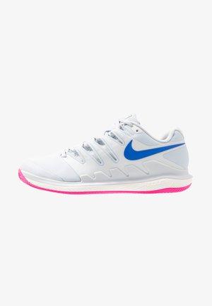 AIR ZOOM VAPOR X CLAY - Clay court tennis shoes - pure platinum/racer blue/metallic platinum/pink blast/phantom