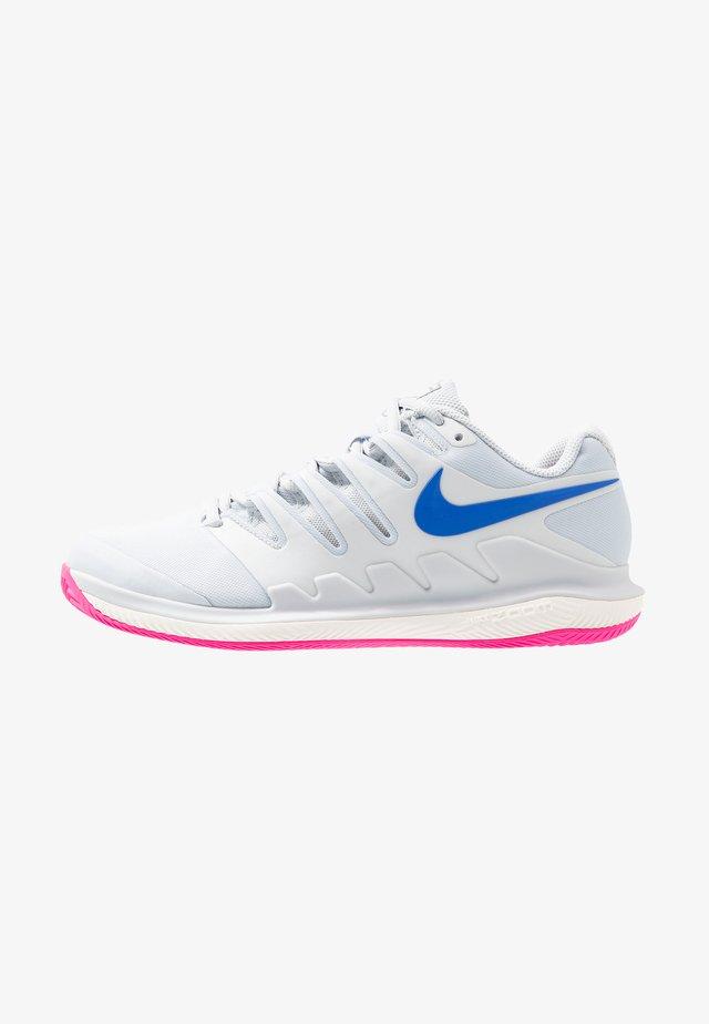 WOMEN'S AIR ZOOM VAPOR X CLAY SHOE - Zapatillas de tenis para tierra batida - pure platinum/racer blue/metallic platinum/pink blast/phantom