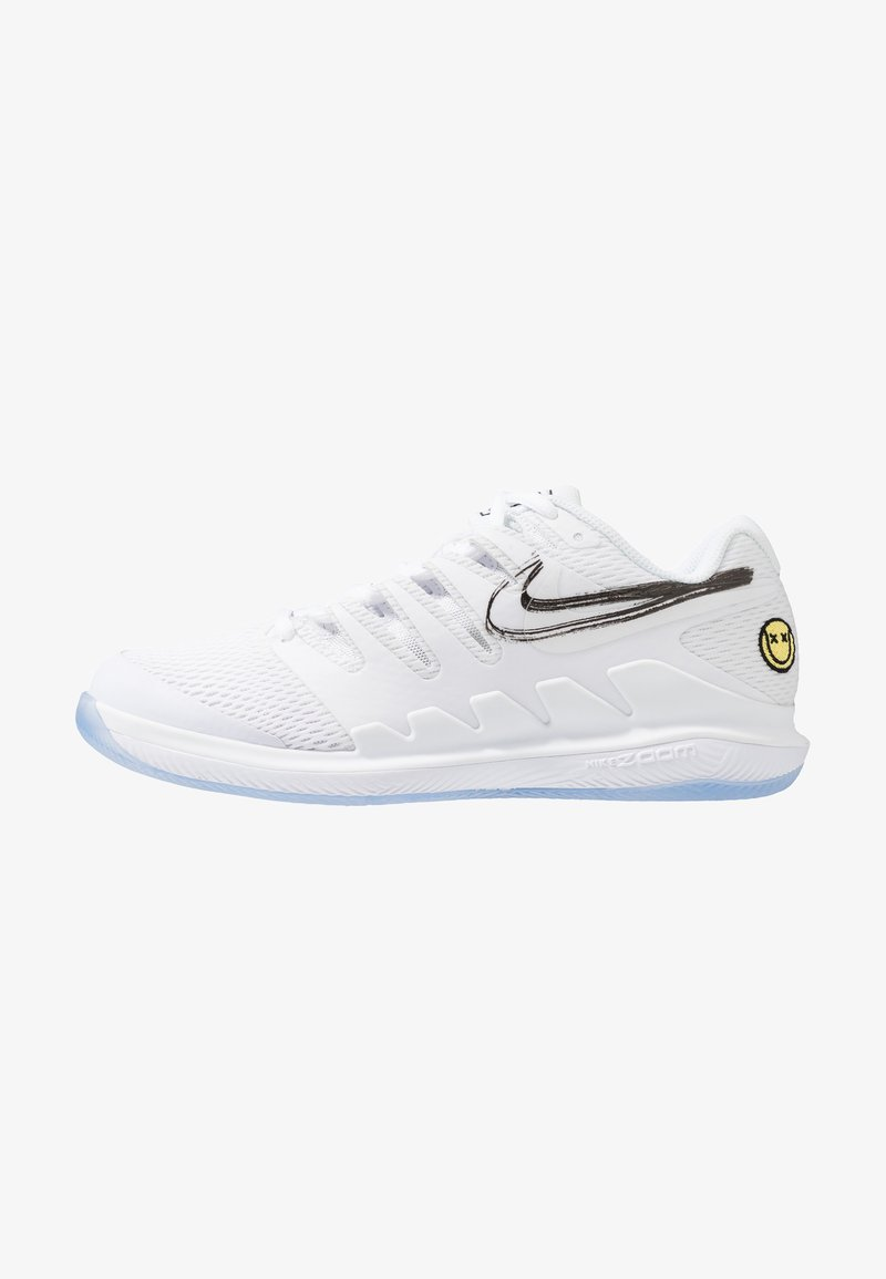 Nike Performance - AIR ZOOM VAPOR X HC - Multicourt tennis shoes - white/metallic summit white/black/canary