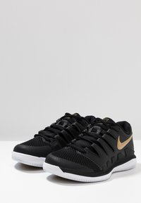 Nike Performance - AIR ZOOM VAPOR X - Scarpe da tennis per tutte le superfici - black/metalilc gold/white - 2