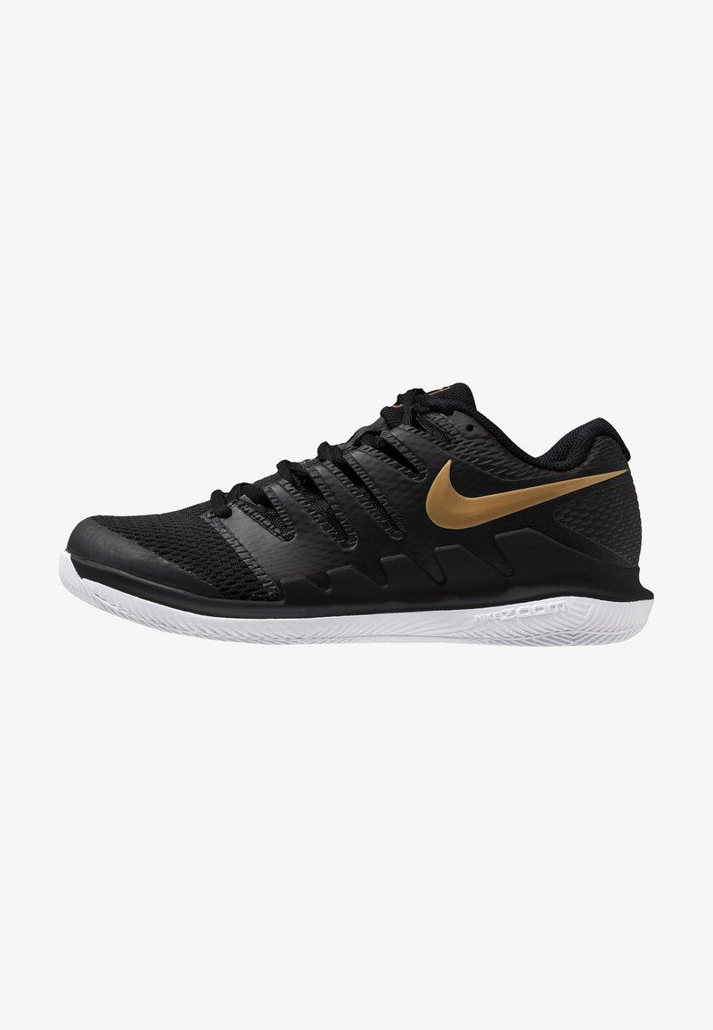 Nike Performance - AIR ZOOM VAPOR X - Scarpe da tennis per tutte le superfici - black/metalilc gold/white
