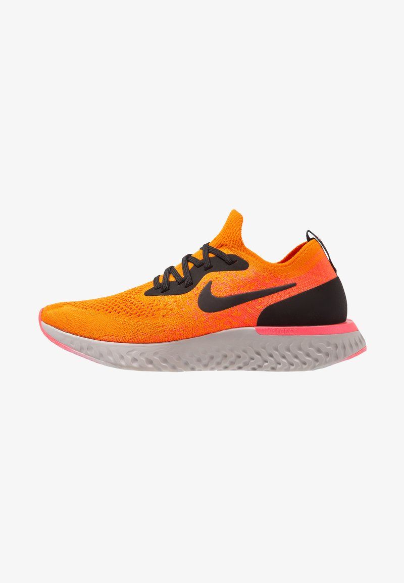 Nike Performance - EPIC REACT FLYKNIT - Sneakers - copper flash/black/flash crimson/moon particle