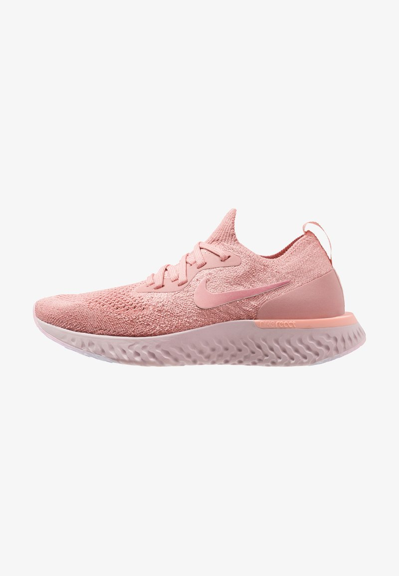 Nike Performance - EPIC REACT FLYKNIT - Sneakers - rust pink/pink tint/tropical pink/barely rose