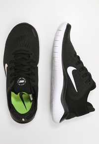 Nike Performance - Laufschuh Natural running - black/white - 1