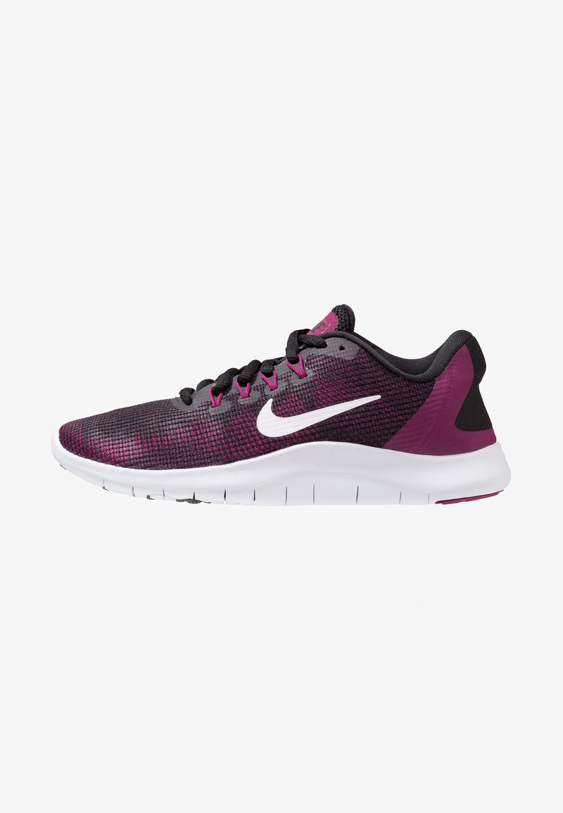 Nike Performance - FLEX 2018 RN - Minimalist running shoes - black/white/true berry/burgundy ash