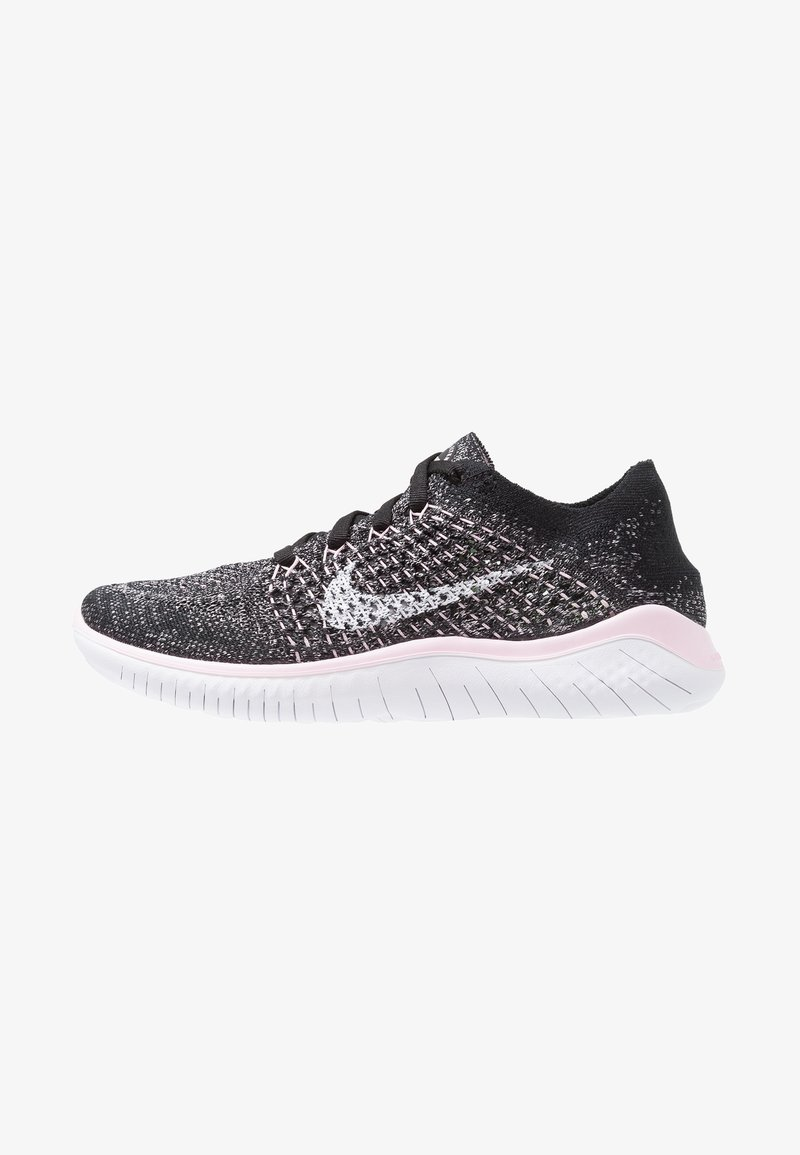 Nike Performance - FREE RN FLYKNIT 2018 - Laufschuh Natural running - black/white/pink foam