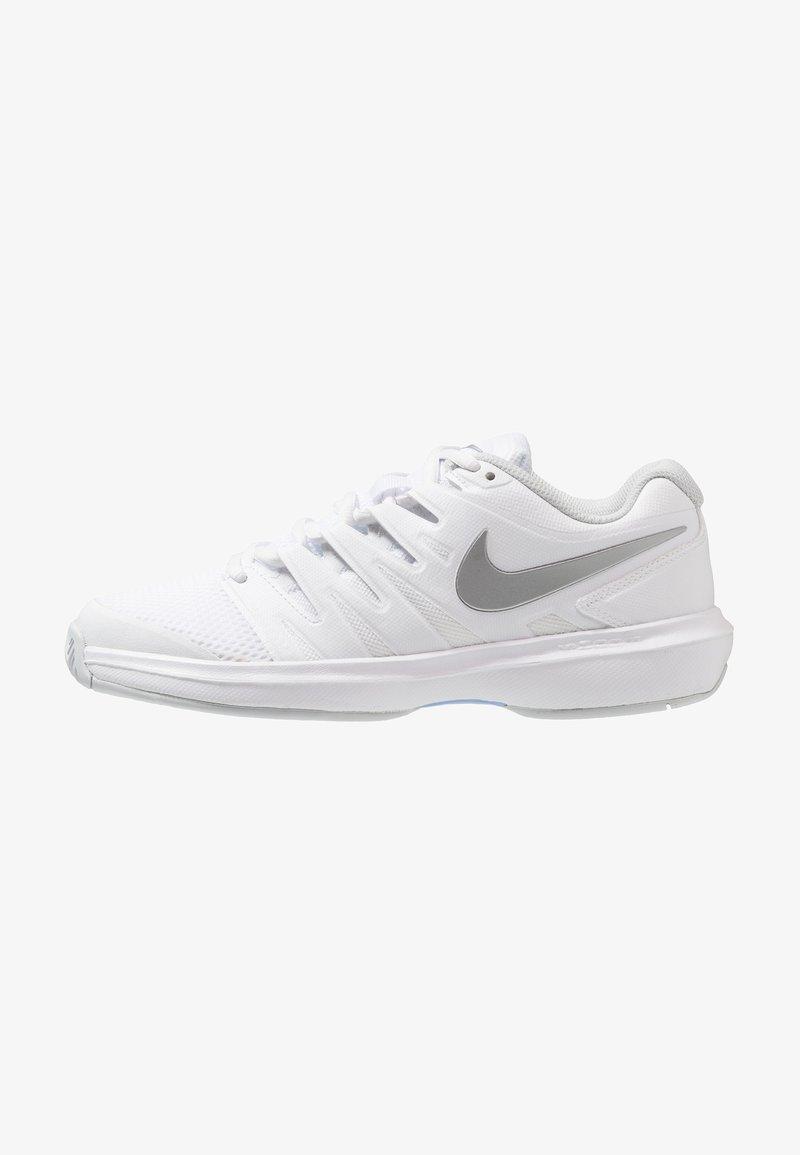 Nike Performance - AIR ZOOM PRESTIGE - Tenisové boty na všechny povrchy - white/metallic silver/pure platinum/aluminum