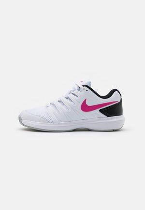 AIR ZOOM PRESTIGE - Multicourt tennis shoes - white/laser fuchsia/light smoke grey/black