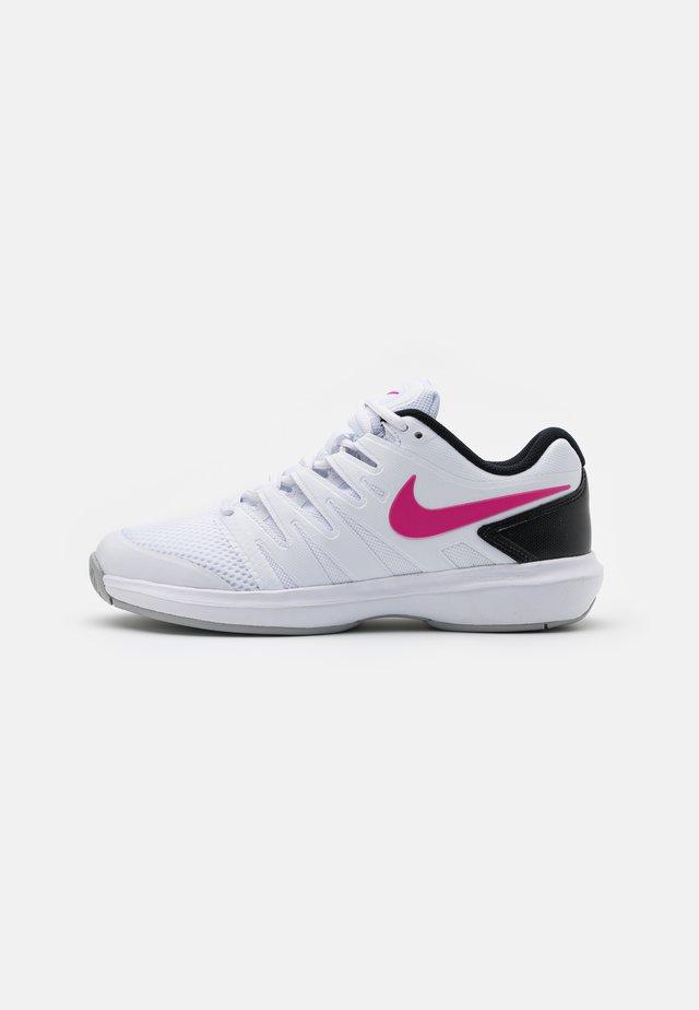 AIR ZOOM PRESTIGE - All court tennisskor - white/laser fuchsia/light smoke grey/black