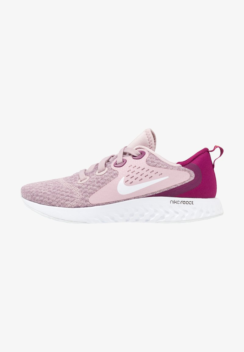 Nike Performance - LEGEND REACT - Neutral running shoes - plum chalk/white/true berry/bright citron