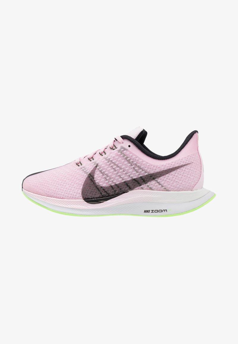 Nike Performance - ZOOM PEGASUS 35 TURBO - Neutral running shoes - pink /black/lime blast/vast grey/white