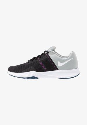 CITY TRAINER 2 - Sportovní boty - black/white/light smoke grey/hyper violet/valerian blue