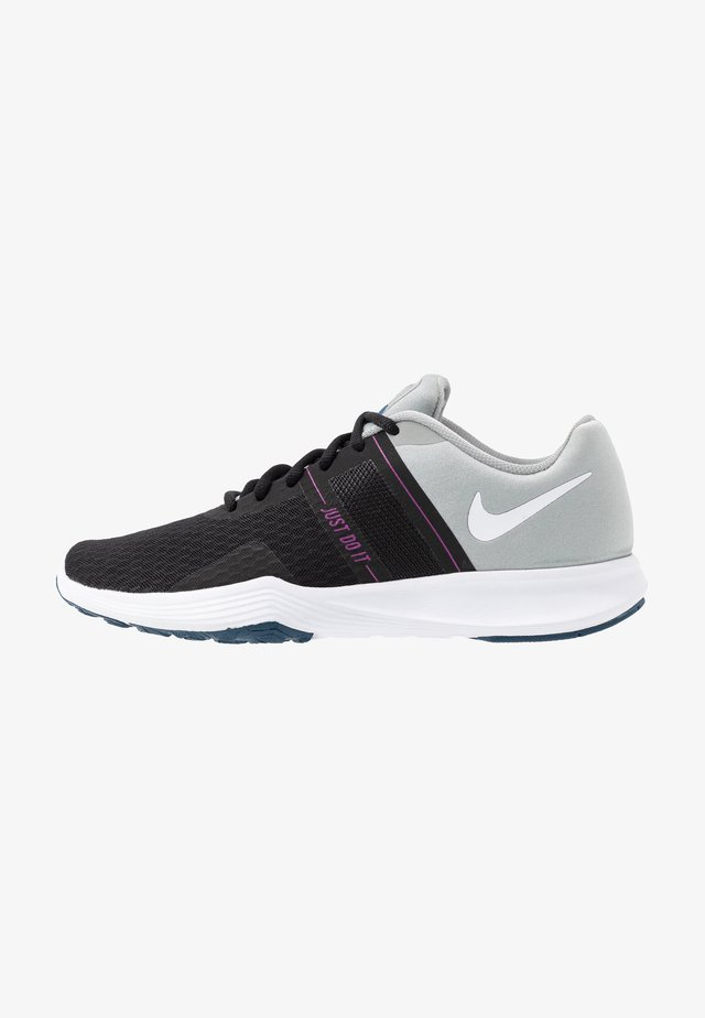 CITY TRAINER 2 - Sports shoes - black/white/light smoke grey/hyper violet/valerian blue