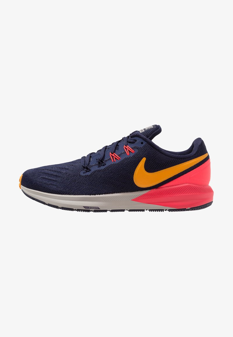 Nike Performance - AIR ZOOM STRUCTURE  - Stabilní běžecké boty - blackened blue/orange peel/flash crimson/moon particle/black