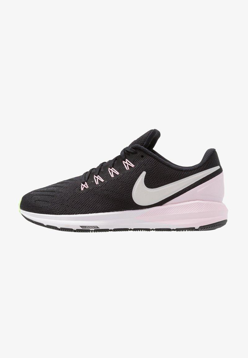Nike Performance - AIR ZOOM STRUCTURE  - Stabilní běžecké boty - black/vast grey/pink foam/lime blast/white