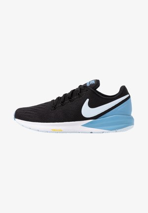 AIR ZOOM STRUCTURE  - Obuwie do biegania Stabilność - black/half blue/light blue/chrome yellow