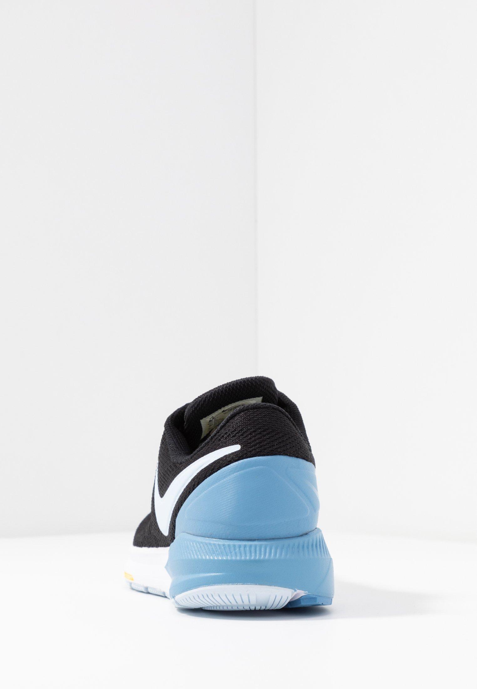 Nike Performance AIR ZOOM STRUCTURE  - Scarpe da corsa stabili - black/half blue/light blue/chrome yellow