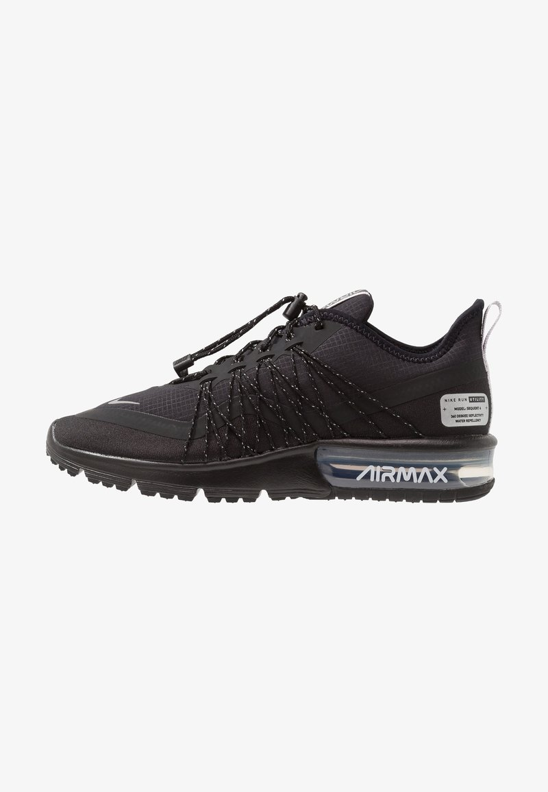 Nike Performance - AIR MAX SEQUENT 4 UTILITY - Laufschuh Neutral - black/reflect silver