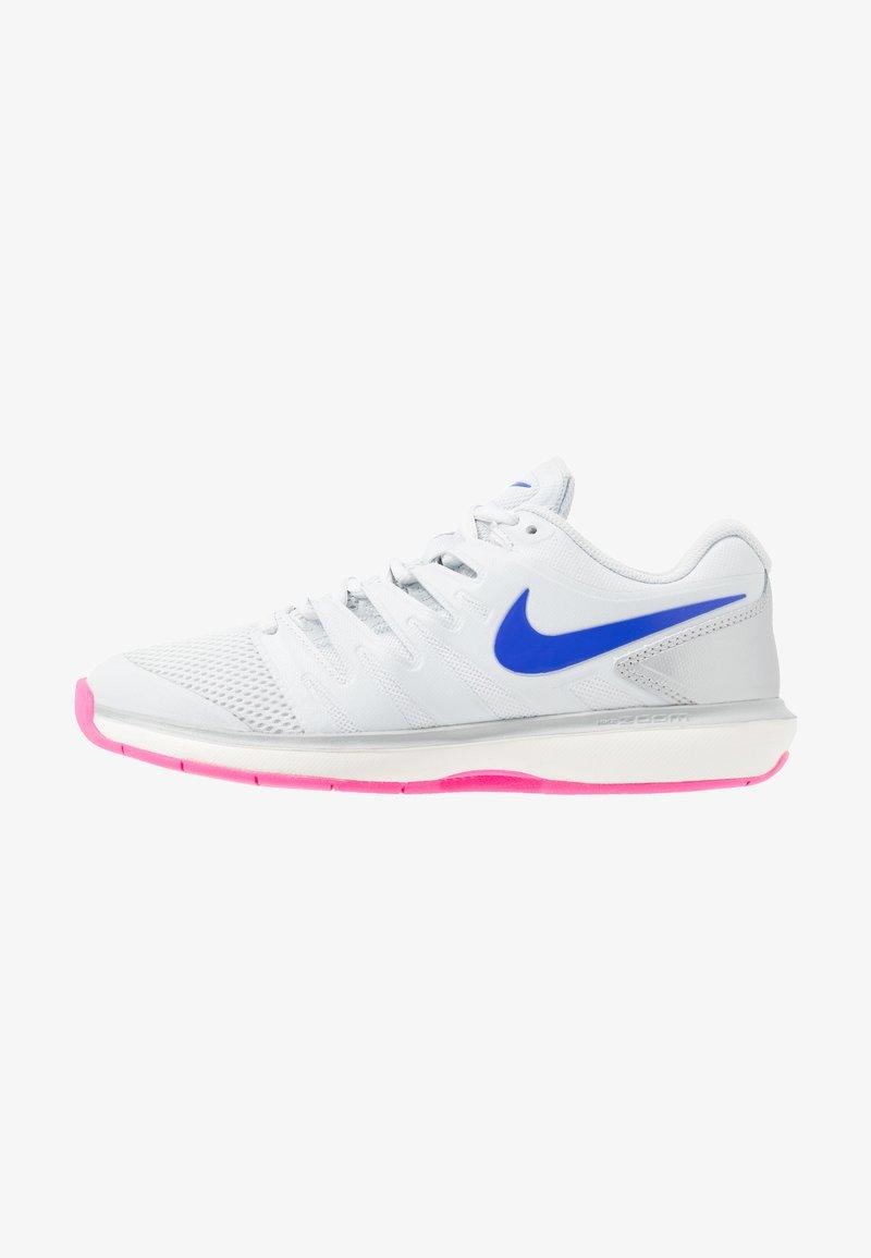 Nike Performance - AIR ZOOM PRESTIGE CPT - Zapatillas de tenis para moqueta sintética - pure platinum/racer blue/metallic platinum/pink blast/phantom