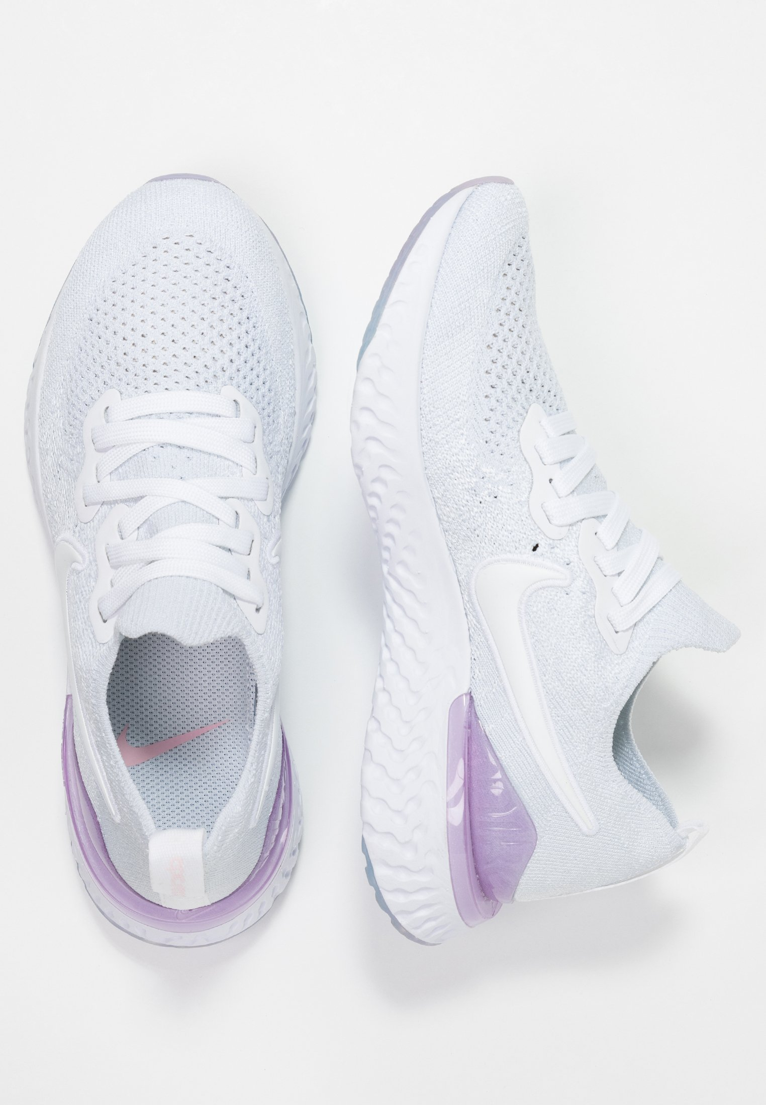 Nike Performance EPIC REACT FLYKNIT 2 - Obuwie do biegania treningowe - white/pink foam