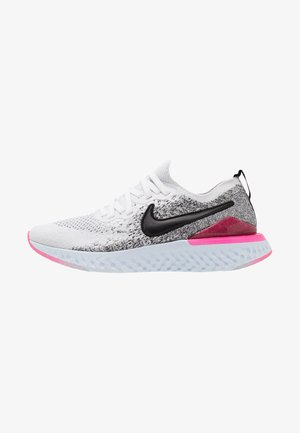 EPIC REACT FLYKNIT 2 - Neutral running shoes - white/black/hyper pink/blue tint