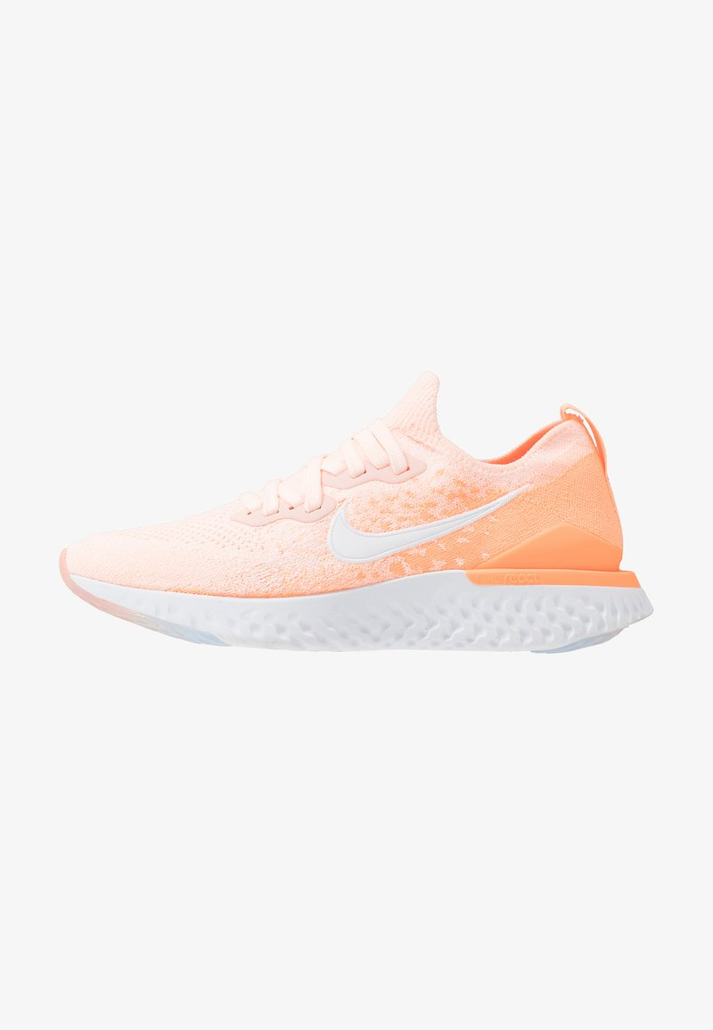 Nike Performance - EPIC REACT FLYKNIT 2 - Hardloopschoenen neutraal - sunset tint/white/orange pulse