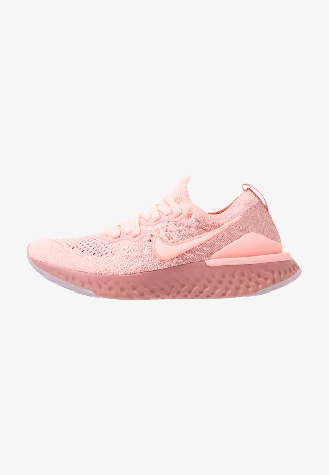 EPIC REACT FLYKNIT 2 - Neutral running shoes - pink tint/rust pink/celestial gold/black
