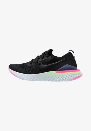EPIC REACT FLYKNIT 2 - Neutral running shoes - black/sapphire/lime blast/hyper pink/blue tint