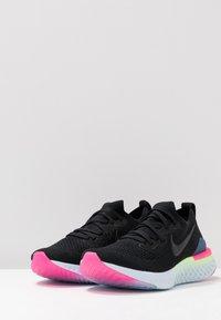 Nike Performance - EPIC REACT FLYKNIT 2 - Neutrale løbesko - black/sapphire/lime blast/hyper pink/blue tint - 2