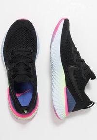 Nike Performance - EPIC REACT FLYKNIT 2 - Neutrale løbesko - black/sapphire/lime blast/hyper pink/blue tint - 1