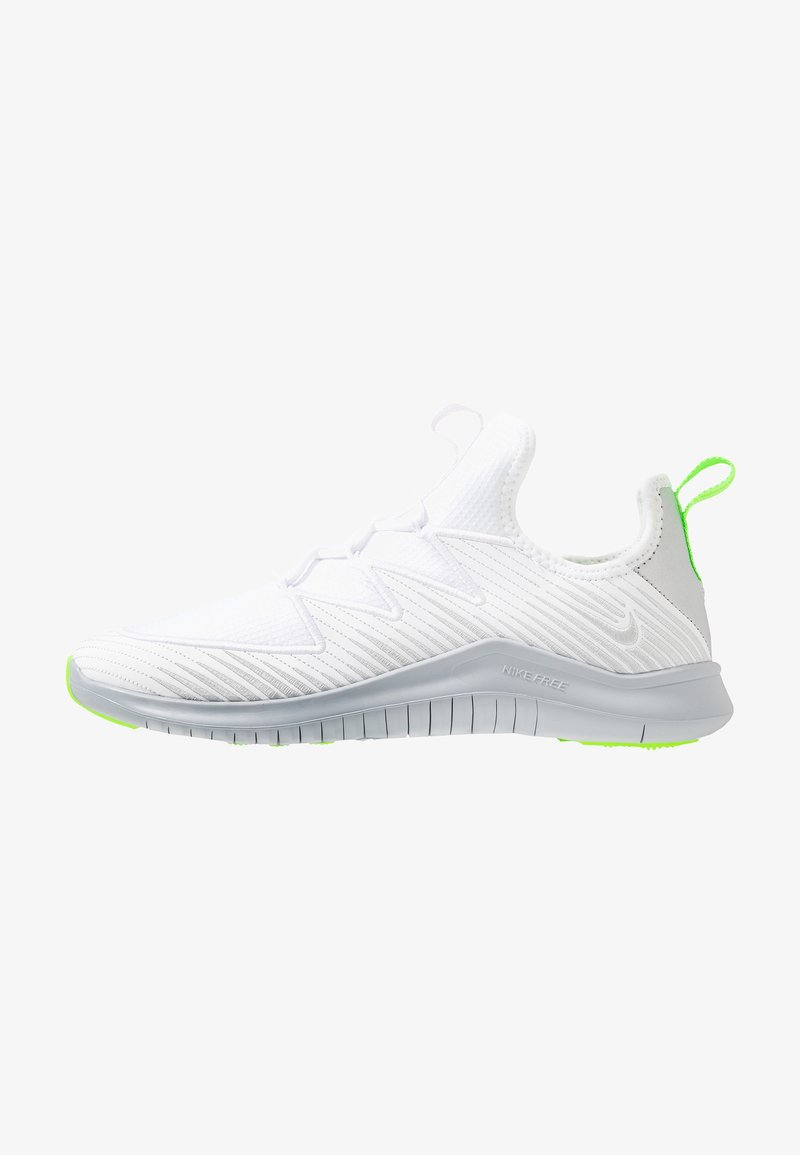 Nike Performance - HYPERFLORA FREE TR ULTRA - Sports shoes - white/metallic platinum/pure platinum/electric green