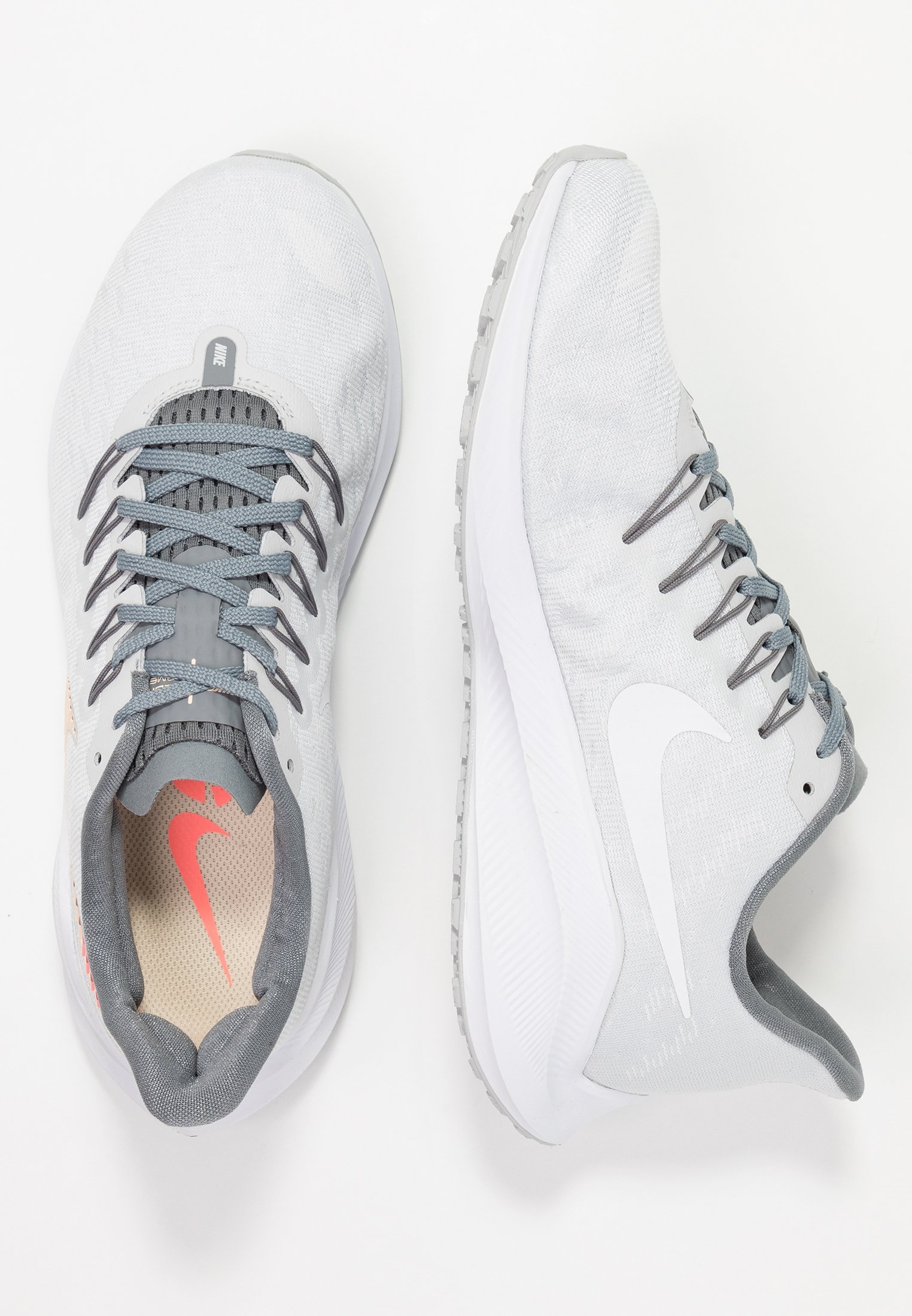 Nike Performance Air Zoom Vomero - Chaussures De Running Neutres Pure Platinum/crimson Tint/cool Grey/lava Glow/white