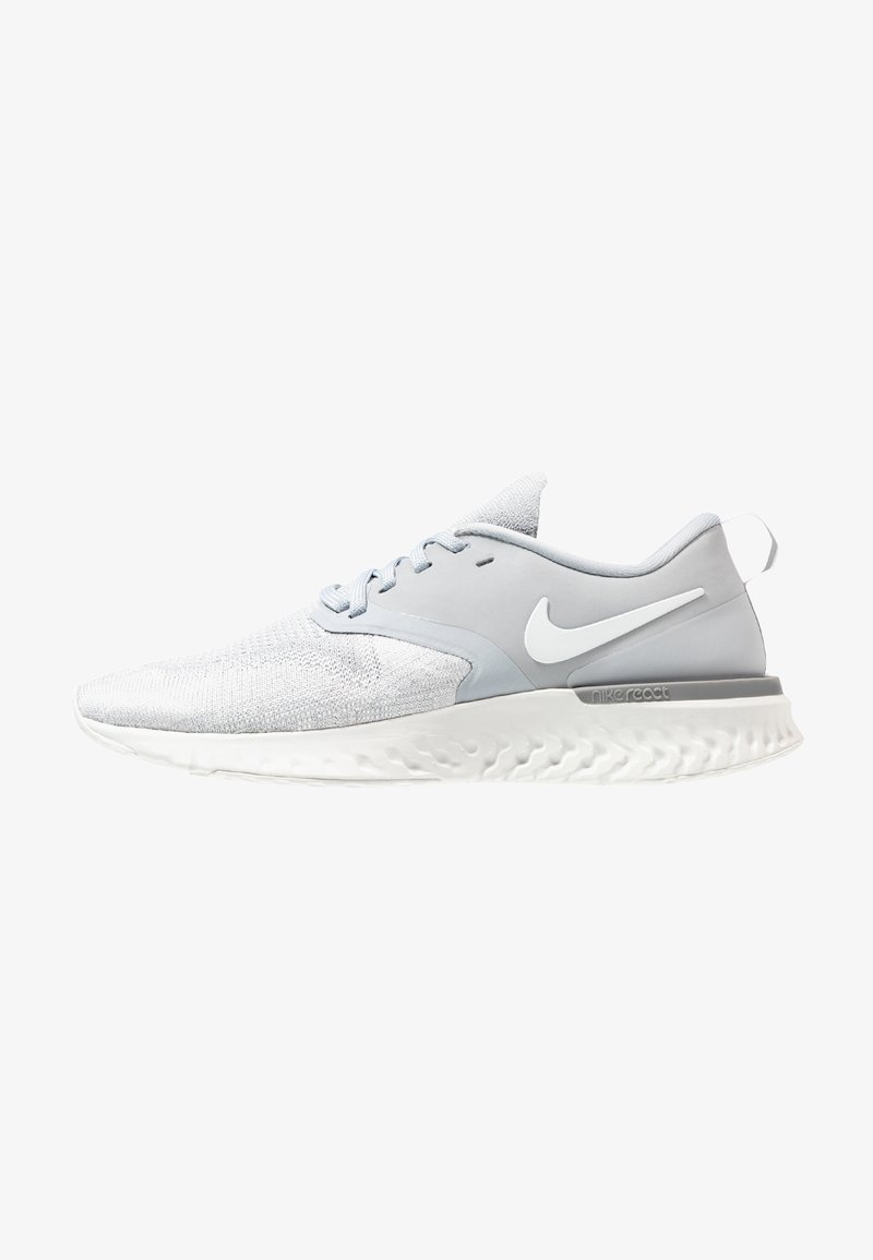 Nike Performance - ODYSSEY REACT 2 FLYKNIT - Neutral running shoes - wolf grey/white/platinum tint/light armory blue