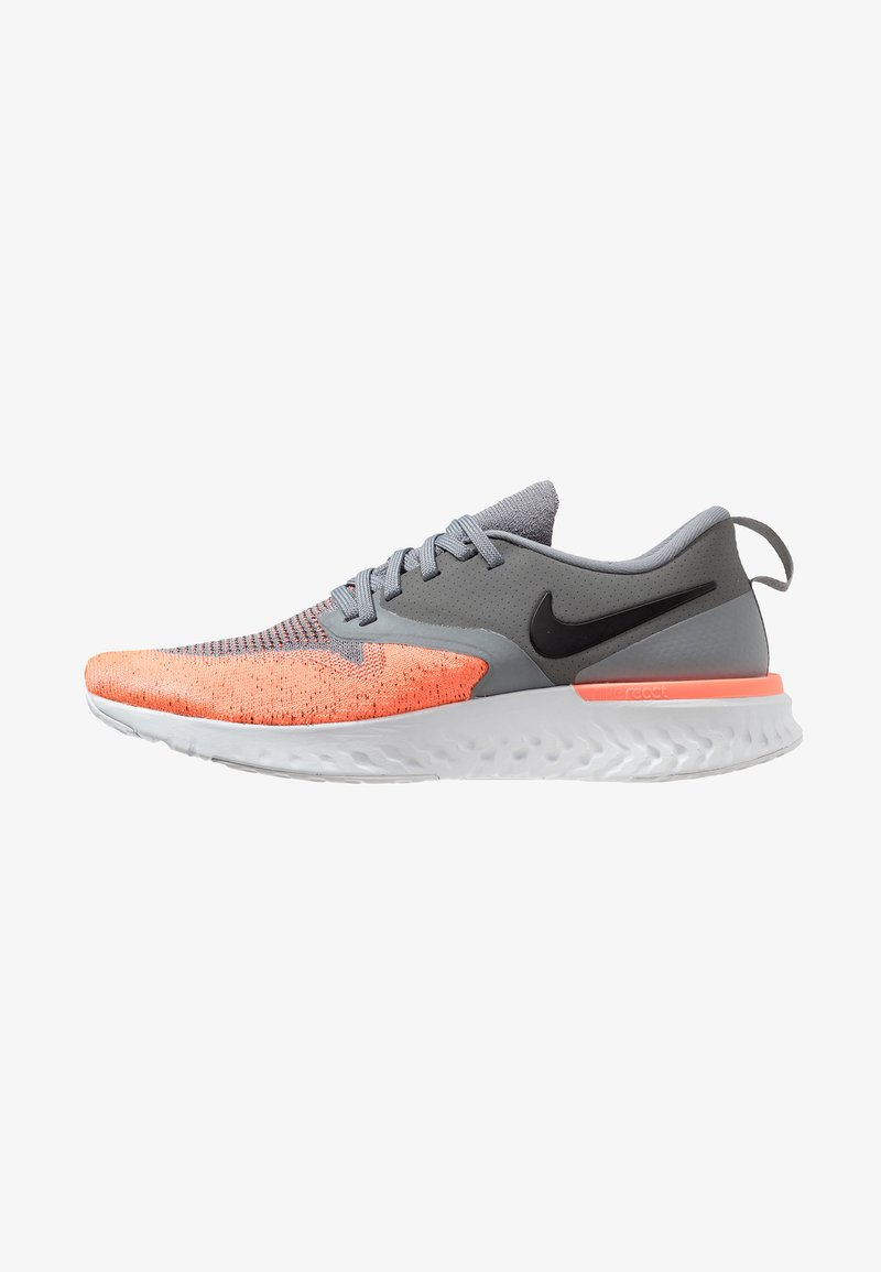 Nike Performance - ODYSSEY REACT 2 FLYKNIT - Zapatillas de running neutras - cool grey/black/bright mango/pure platinum