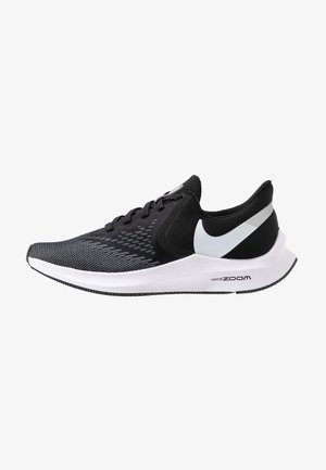ZOOM WINFLO - Neutral running shoes - black/white/dark grey/metallic platinum