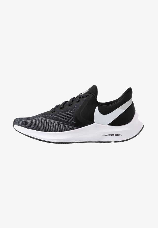 ZOOM WINFLO - Neutral running shoes - black/white/dark grey/metallic platinum