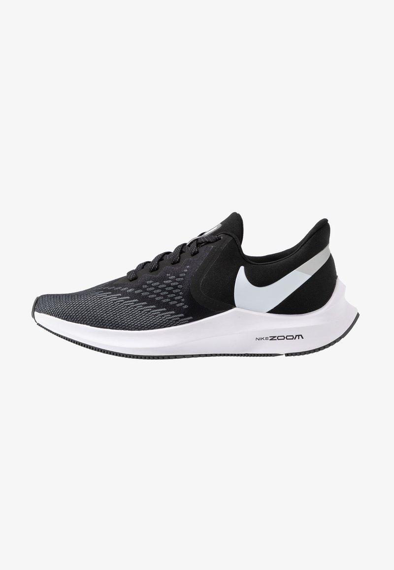 Nike Performance - ZOOM WINFLO - Chaussures de running neutres - black/white/dark grey/metallic platinum