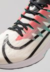 Nike Performance - ZOOM RIVAL FLY - Neutral running shoes - white/metallic gold/pure platinum