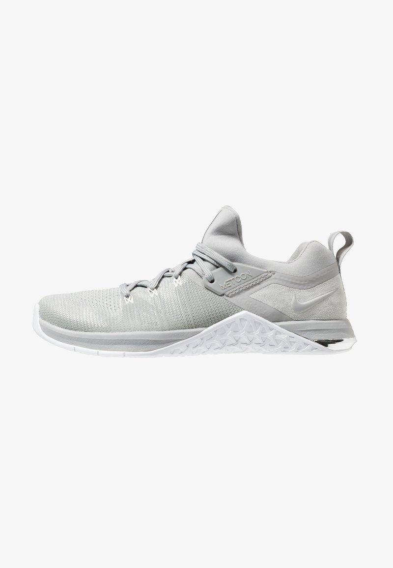 Nike Performance - METCON FLYKNIT 3 - Sports shoes - matte silver/white/electric green/metallic silver