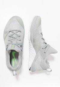 Nike Performance - METCON FLYKNIT 3 - Sports shoes - matte silver/white/electric green/metallic silver - 1