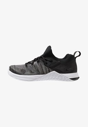METCON FLYKNIT 3 - Sports shoes - black/matte silver/white