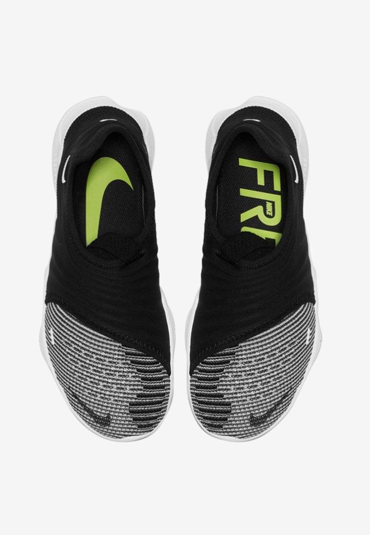 Nike Performance FREE RN FLYKNIT 3.0 - Obuwie do biegania neutralne - black/volt/white