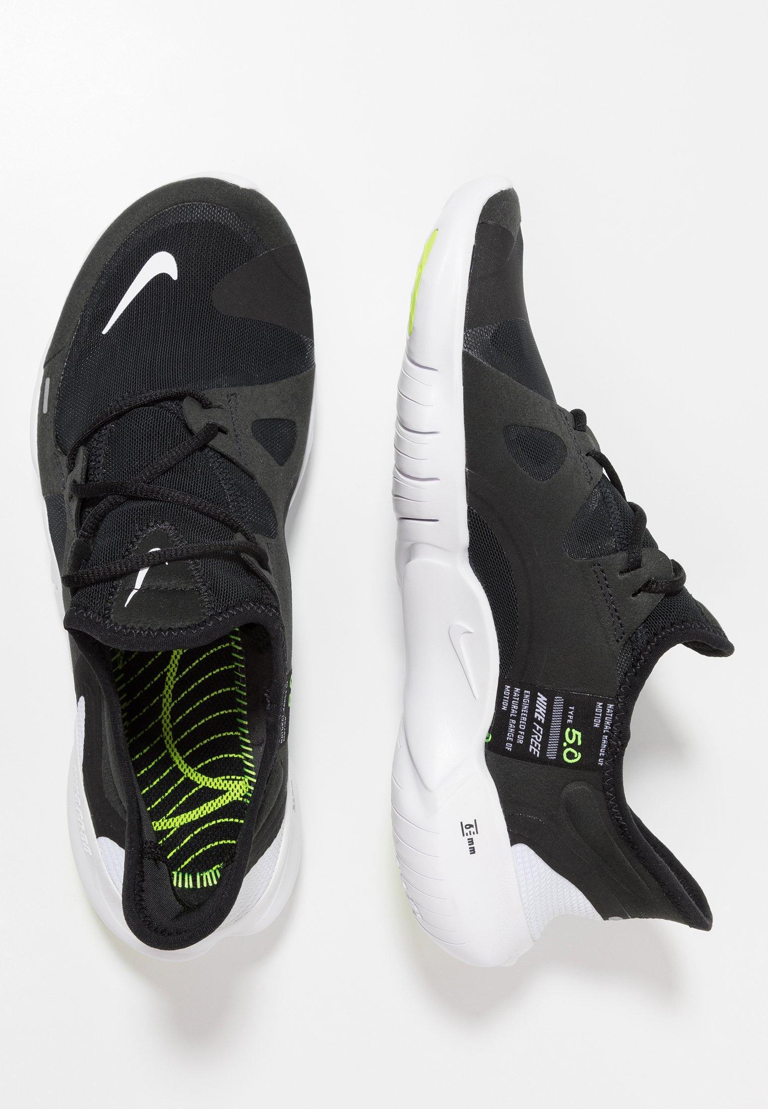 Nike Performance Free Rn 5.0 - Loopschoen Neutraal Black/white/anthracite/volt Goedkope Schoenen