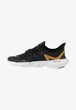 FREE RN 5.0 - Obuwie do biegania neutralne - black/metallic gold/anthracite