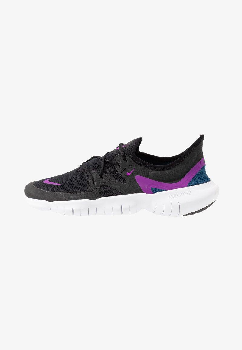 Nike Performance - FREE RN 5.0 - Minimalist running shoes - black/vivid purple/valerian blue