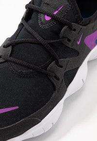 Nike Performance - FREE RN 5.0 - Minimalist running shoes - black/vivid purple/valerian blue - 5