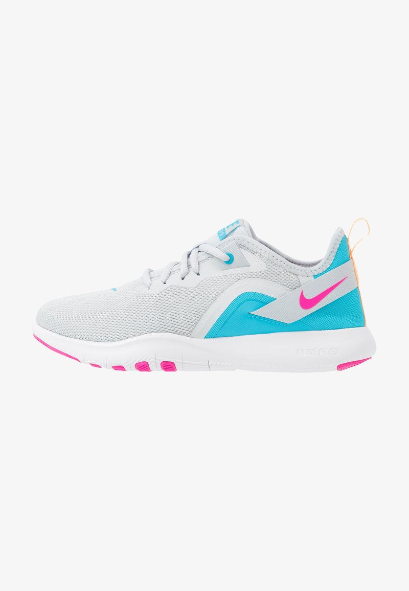 Nike Performance - FLEX TRAINER 9 - Sports shoes - pure platinum/laser fuchsia/white