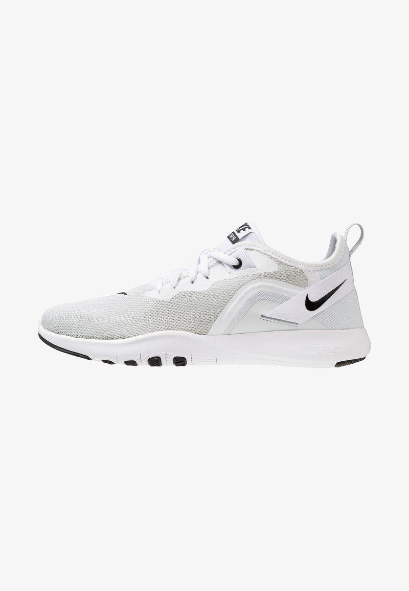 Nike Performance - FLEX TRAINER 9 - Scarpe running da competizione - white/black/pure platinum