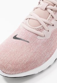 Nike Performance - FLEX TRAINER 9 - Sports shoes - stone mauve/black/barely rose/metallic red bronze/metallic silver/white - 5